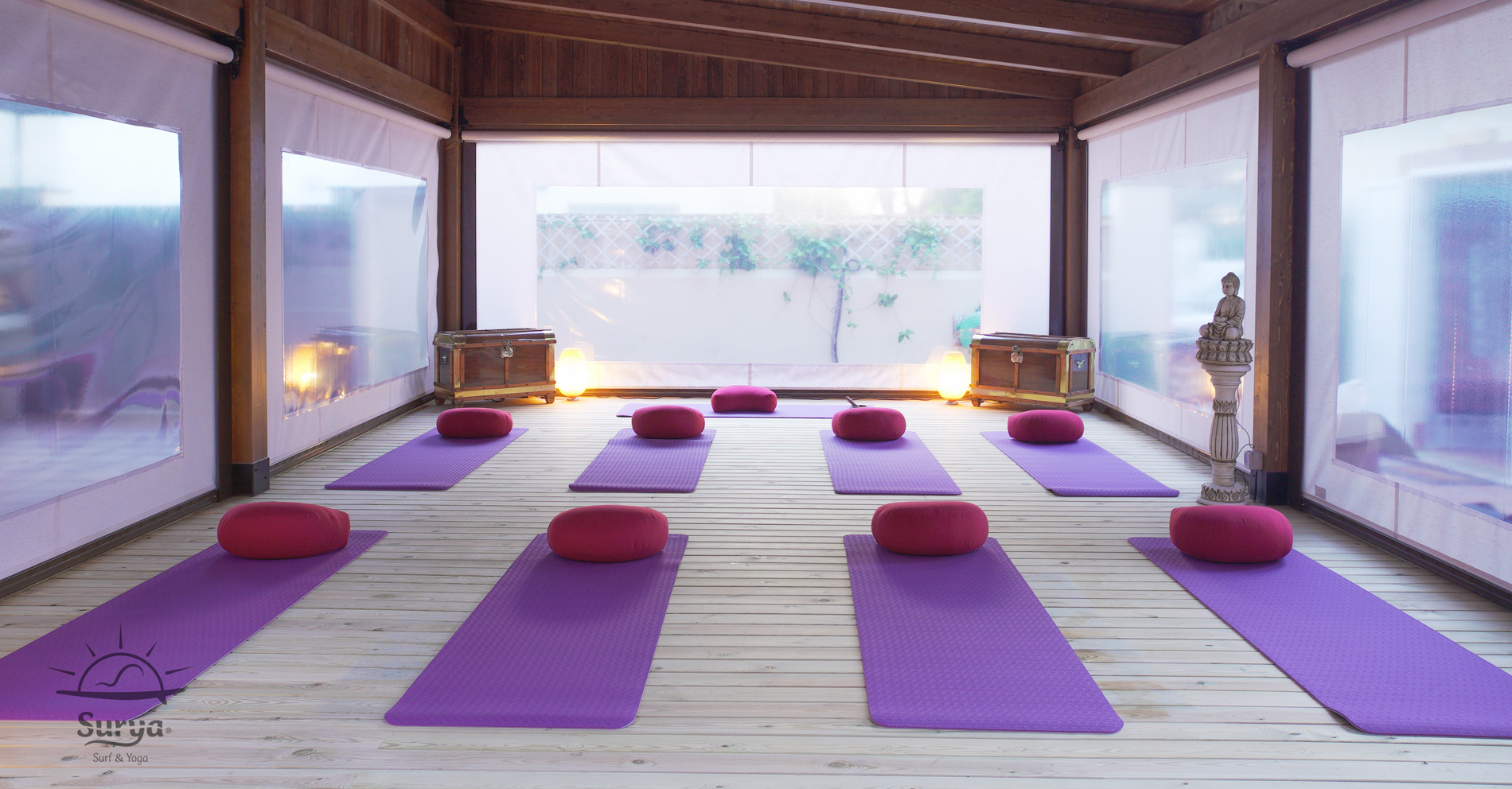 Hatha Yoga. Surf, Retreat House. Cádiz