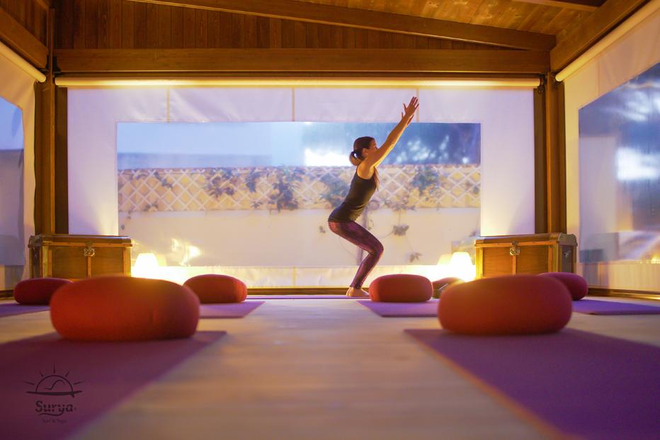 Sesiones de Hatha yoga en Villa Surya. Cádiz